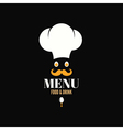 Menu chef egg design background