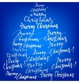 Merry Christmas collection hand lettering vector image vector image
