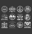 nautical icons with sea anchors chains and ropes vector image