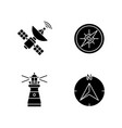 navigation black glyph icons set on white space vector image vector image