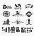 photography and photo studio logo classic camera vector image vector image