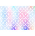 princess mermaid background with kawaii rainbow vector image vector image