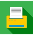 Printer with paper icon flat style vector image vector image