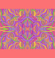 rainbow summer psychedelic hippie style abstract vector image vector image