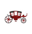 retro carriage vintage transport wagon for vector image
