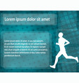 runner silhouette on the abstract background vector image vector image
