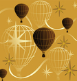seamless background journey in a balloon vector image vector image