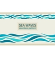 Seamless patterns with stylized sea waves