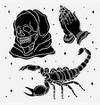 set flash tattoo horror vector image vector image