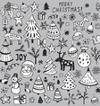 Set of hand drawn sketchy christmas elements
