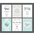 Set of Save the date cards vector image vector image