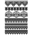 set of seamless lace ribbon vector image vector image