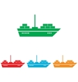 Ship sign Colorfull set vector image vector image
