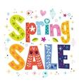 Spring sale decorative lettering type design vector image vector image