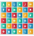 Universal colorful web icons set for internet vector image vector image