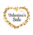 valentines sale poster with inscription in hearts vector image vector image