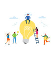 we have solution people with glowing light bulbs vector image
