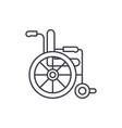 wheelchair line icon concept wheelchair vector image vector image