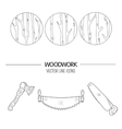 Woodwork icons vector image