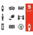 black london icons set vector image