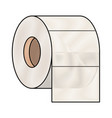 toilet paper roll in colored crayon silhouette vector image