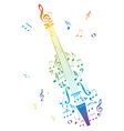Violin with Notes4 vector image