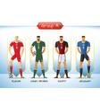 2018 soccer or football team uniform group vector image