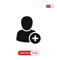 add new user icon vector image vector image