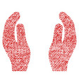 applause hands fabric textured icon vector image vector image