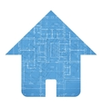 Architecture house plan vector image vector image