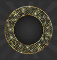 black and gold card with gold circle frame vector image vector image