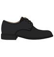 Black shoe vector image vector image