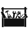 black tools box vector image vector image