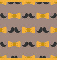 bow tie background fashion mustache retro hair vector image