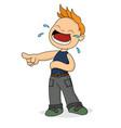 boy laughing cartoon vector image vector image