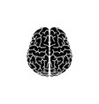 brain icon black on white vector image