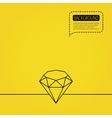 Brilliant icon Diamond gemstone sign vector image vector image
