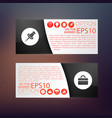 business web horizontal banners vector image vector image