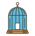 cage bird isolated icon vector image vector image