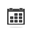 calendar icon vector image vector image