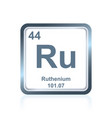 chemical element ruthenium from the periodic table vector image vector image