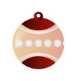 christmas tree ornament icon vector image