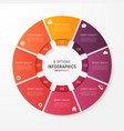 circle chart template with 8 options vector image vector image