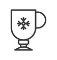 clod beverage cup cute christmas and winter vector image vector image