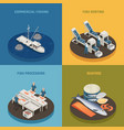 commercial fishing design concept vector image