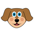 cute dog avatar vector image vector image