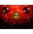 Disco balls over red sparkling tiles wall vector image vector image