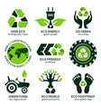 eco label and symbol set vector image vector image