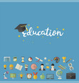 education knowledge icons i vector image