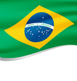Flag of Brazil national country symbol vector image